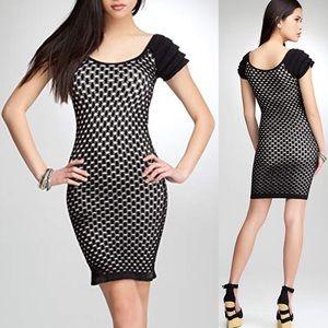 BEBE Ruffle Sleeve Bodycon Dress Small